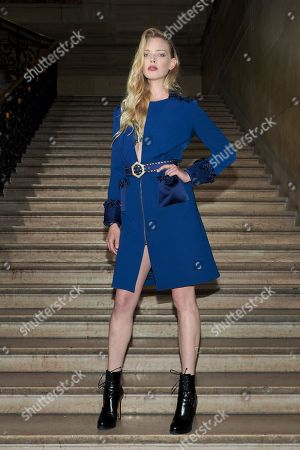 Editorial photo of Georges Hobeika show, Front Row, Spring Summer 2018, Haute Couture Fashion Week, Paris, France - 22 Jan 2018