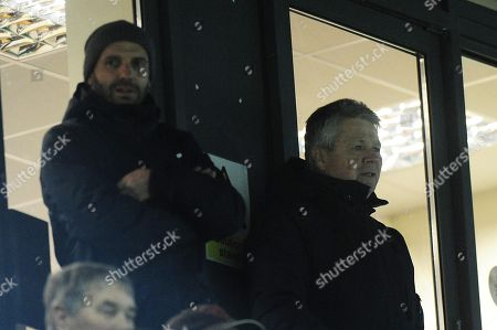 Paul Tisdale, Manager of Exeter City and Steve Perryman, Director of Football of Exeter City watch on during the PL Cup Match between Exeter City u23s and Hull City u23s at St James Park, Exeter, Devon on January 22.