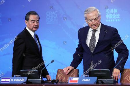 Heraldo Munoz and Wang Yi