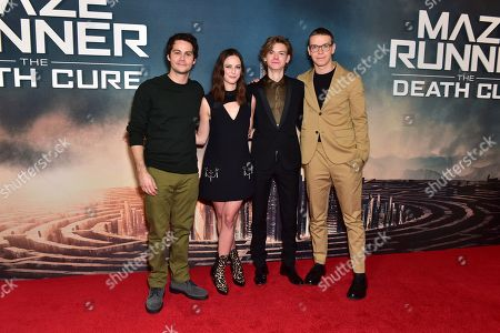 Dylan O'Brien, Kaya Scodelario, Thomas Brodie-Sangster and Will Poulter
