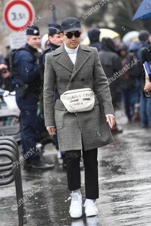 Editorial image of Street Style, Fall Winter 2018, Paris Fashion Week Men's, Paris - 21 Jan 2018