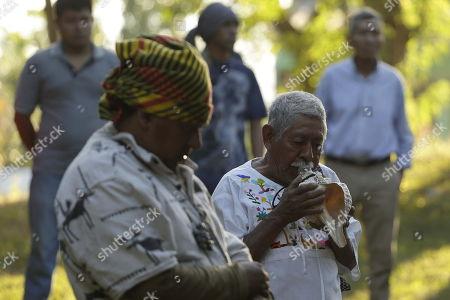 Editorial image of Salvadoran indigenous recall 1932 slaughter and claim for justice, Izalco, El Salvador - 22 Jan 2018