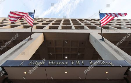 The Pennsylvania Avenue entrance of the J. Edgar Hoover Federal Bureau of Investigations (FBI) Building is seen in Washington