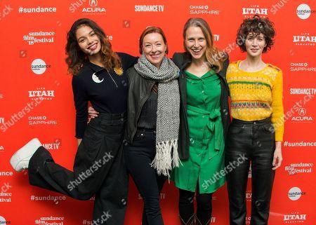 Helena Howard, Molly Parker, Josephine Decker, Miranda July. Actresses Helena Howard, from left, Molly Parker, director Josephine Decker and actress Miranda July