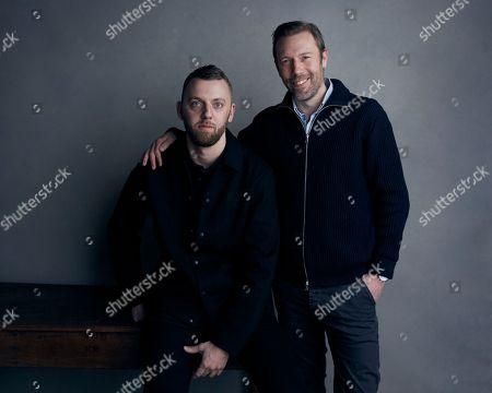Director Gustav Moller and Jakob Cedergren