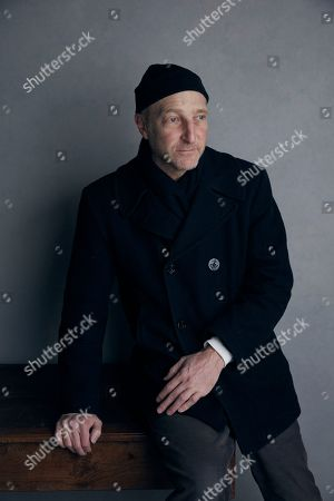 "Writer Jonathan Ames poses for a portrait to promote the film ""You Were Never Really Here"" at the Music Lodge during the Sundance Film Festival, in Park City, Utah"