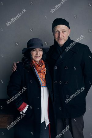 "Lynne Ramsay, Jonathan Ames. Director Lynne Ramsay, left, and writer Jonathan Ames pose for a portrait to promote the film ""You Were Never Really Here"" at the Music Lodge during the Sundance Film Festival, in Park City, Utah"