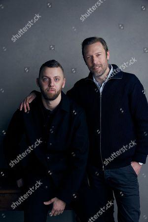 Stock Image of Director Gustav Moller and Jakob Cedergren