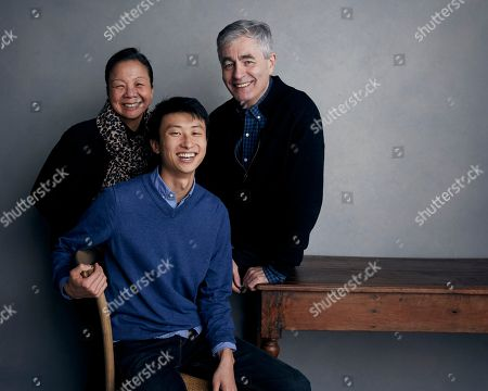 Director Bing Liu, bottom, producer Diane Quon, left, and executive producer Steve James