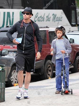 Hugh Jackman and Oscar Maximillian