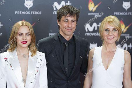Aura Garrido, Hugo Silva and Cayetana Guillen Cuervo