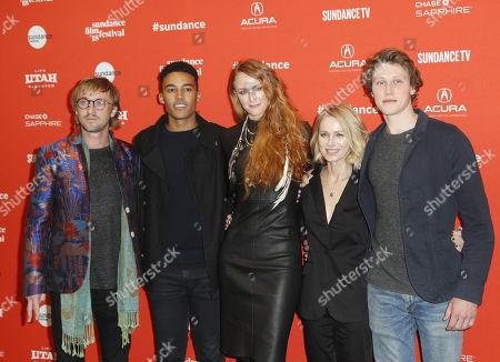 (L-R) Actors Tim Felton, Devon Terrell, director Claire McCarthy, actors Naomi Watts and George McKa