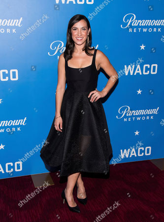 "Annika Marks attends the world premiere of ""Waco"" at Jazz at Lincoln Center, in New York"