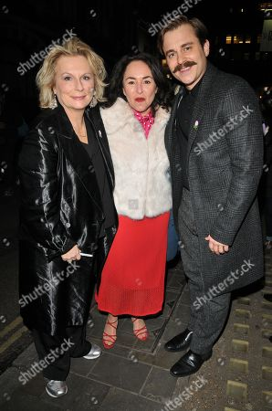 Stock Picture of Jennifer Saunders, Samantha Spiro and Kevin Bishop