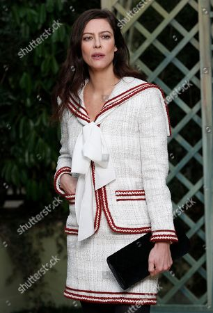 Stock Picture of French actress Anna Mougladis poses during a photocall before Chanel Haute Couture Spring-Summer 2018 fashion collection presented in Paris, Tuesday, Jan.23, 2018