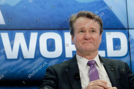 Brian Moynihan, Chairman and CEO of Bank of America attends a panel about Global Markets in a Fractured World during the World Economic Forum, WEF, in Davos, Switzerland