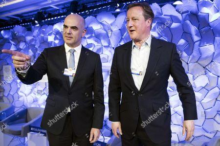 Alain Berset and David Cameron