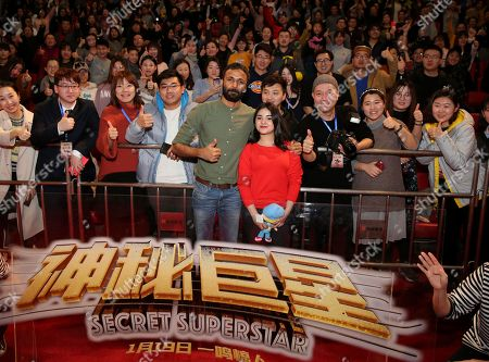 Editorial picture of 'Secret Superstar' film photocall, Shenyang, Liaoning Province, China - 19 Jan 2018