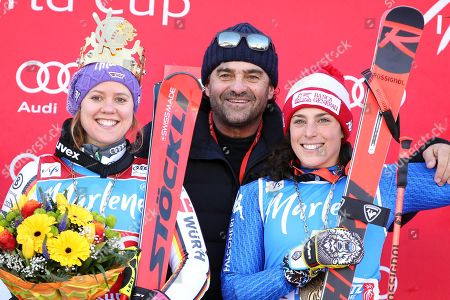 Viktoria Rebensburg, Alberto Tomba and Federica Brignone