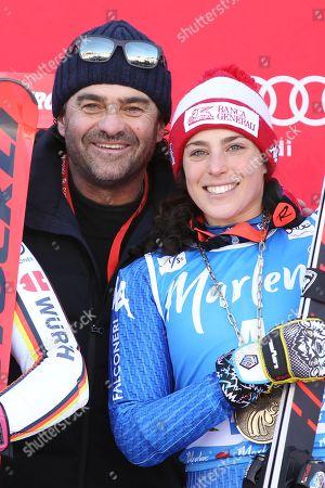 Federica Brignone and Alberto Tomba