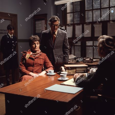 Percy Herbert, as Supt. Kellaway and Desmond Jordan, as James Ramsdell, Barbara Jefford, as Joyce Ramsdell