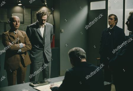 Michael Robbins, as Eddie and Christopher Malcolm, as Farrer, with Guy Slater, as Det. Con. Jackson