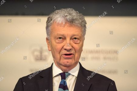 Stock Picture of Chair of the Charity Commission William Shawcross at the Charity Commission Annual Public Meeting at the Royal Institution
