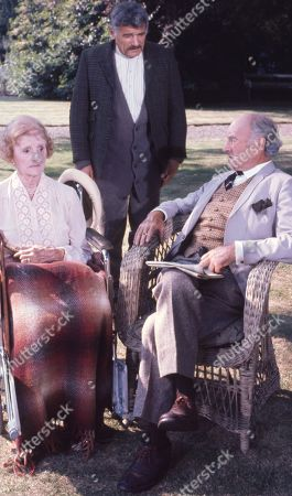 Richard Beale, as Cubby; Joyce Carey, as Mrs. Desmond and Maurice Denham, as Lord Hawker