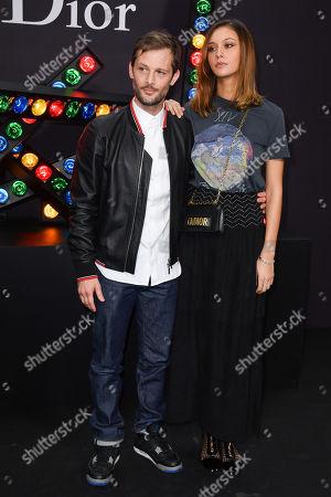 Nicolas Duvauchelle, Anouchka Alsif attend the Dior Homme Menswear Fall Winter 2018-2019 during the Paris Fashion Week on January 19, 2018 in Paris, France