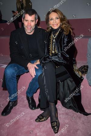 Jalil Lespert and Marisa Berenson