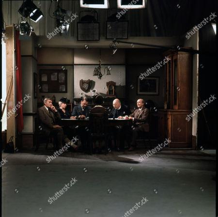 On Set Filming. Nigel Davenport (as Anthony Carne)