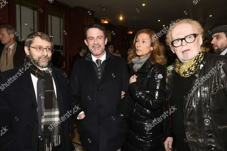 Stock Photo of Haim Korsia, Manuel Valls, Manuel Valls sa femme Anne Gravoin, Dominique Coubes