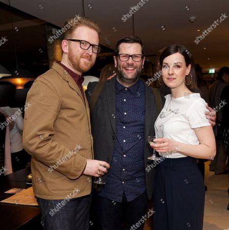Stock Photo of Tom Goodman-Hill, David Eldridge (writer) & Jessica Raine