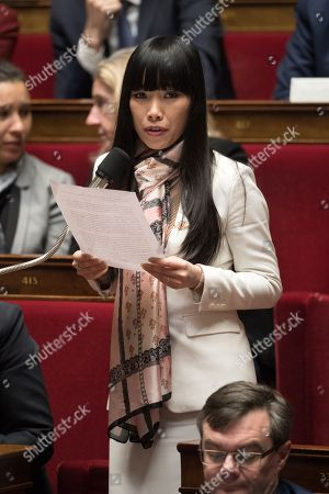 Stephanie Do attends the weekly session of the questions to the government at French Parliament