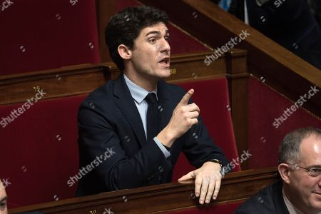 Deputy, Aurelien Pradie attends the weekly session of the questions to the government at French Parliament