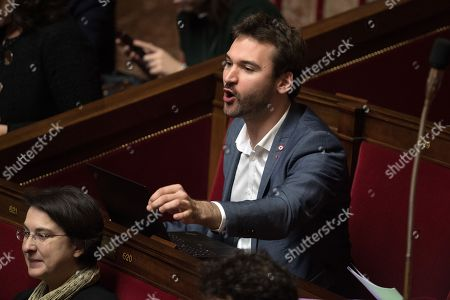 Ugo Bernalicis attends the weekly session of the questions to the government at French Parliament