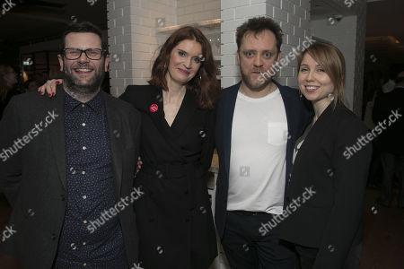 Stock Photo of David Eldridge (Author), Justine Mitchell (Laura), Sam Troughton (Danny) and Polly Findlay (Director)