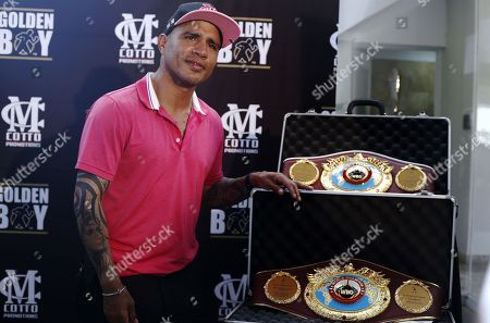 Editorial image of Miguel Cotto receives tribute of the WBO, Guyama, Puerto Rico - 23 Jan 2018
