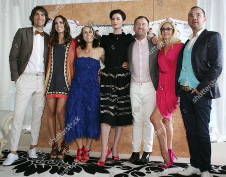 George Lamb, Louise Roe, Caryn Franklin, Erin O'Connor, Brendan Courtney, Nicky Hambleton-Jones and guest