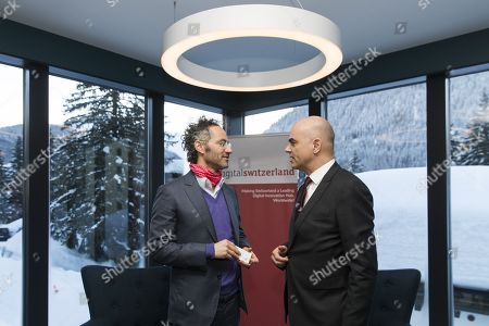 Alain Berset and Alex Karp