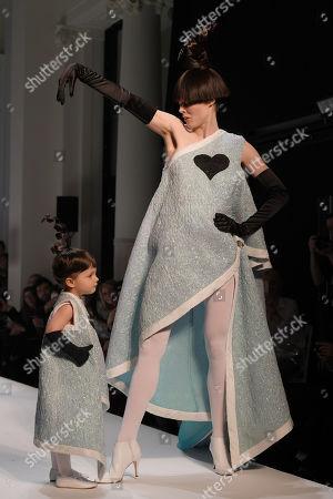 Ioni James Conran and Coco Rocha on the catwalk