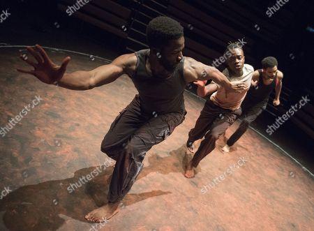 Sope Dirisu as Ogun, Jonathan Ajayi as Oshoosi, Anthony Welsh as Elegba,