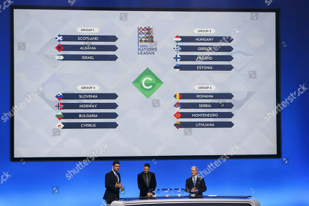 Editorial image of UEFA Nations League draw in Lausanne, Switzerland - 24 Jan 2018