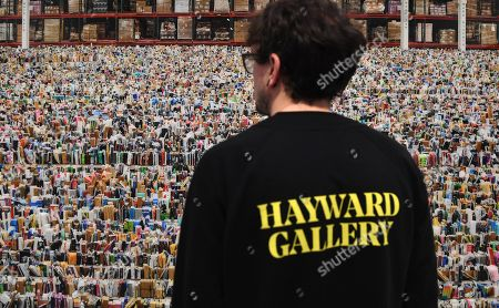 A Hayward Gallery staff look over  Andreas Gursky's artwork 'Amazon' 2016 at the newly refurbished Hayward Gallery in London, Britain, 24 January 2018. The Hayward Gallery will reopen 25 January with its first major UK retrospective of the work of acclaimed German photographer Andreas Gursky. Known for his large-scale, often spectacular pictures that portray emblematic sites and scenes of the global economy and contemporary life, he is widely regarded as one of the most significant photographers of our time.