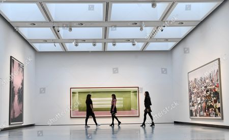 The work of Andreas Gursky on view at the newly refurbished Hayward Gallery in London, Britain, 24 January 2018. The Hayward Gallery will reopen 25 January with its first major UK retrospective of the work of acclaimed German photographer Andreas Gursky. Known for his large-scale, often spectacular pictures that portray emblematic sites and scenes of the global economy and contemporary life, he is widely regarded as one of the most significant photographers of our time.