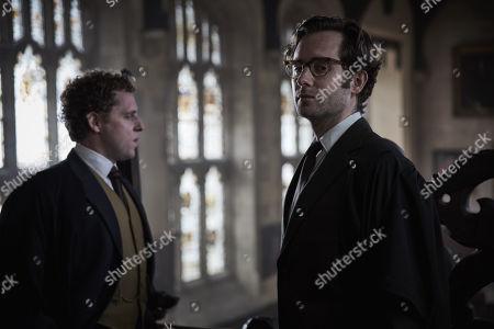 David Newman as Adrian Croxley and Samuel Crane as Dr Tancred Howlett
