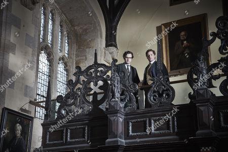 Samuel Crane as Dr Tancred Howlett and David Newman as Adrian Croxley