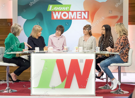 Ruth Langsford, Linda Robson, Ashley Carter and Louise Carter, Katie Price and Stacey Solomon