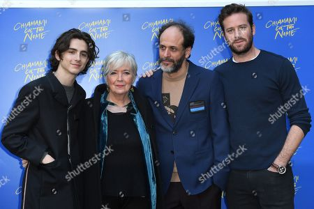 Timothee Chalamet, Piera Detassis, Luca Guadagnino and Armie Hammer
