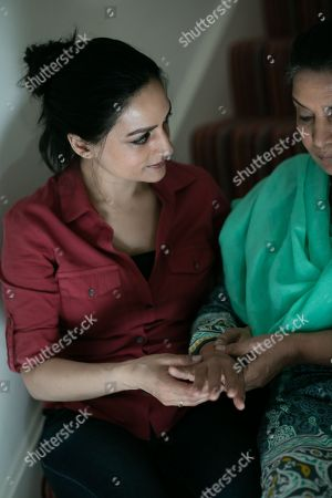 Archie Panjabi as Mona Shirani and Shabana Azmi as Mrs Shirani